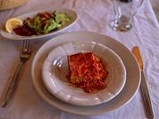Hors d´oevre Egg dish Selcuk Turkey
