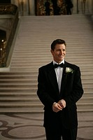 Mature man wearing a tuxedo