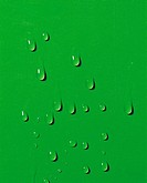 Waterdrops Running Down On A Green Wall