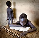 Surma school boys. South Ethiopia
