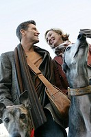 Couple with dogs (thumbnail)