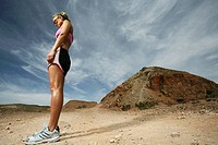 Caucasian woman standing outdoors (thumbnail)