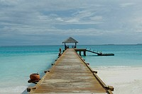 Pier on Resort Hotel, Maldives