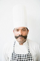 Portrait of a chef looking serious