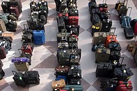 Luggage being held at a convention in New York,USA