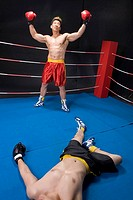 male boxing