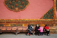 the visiters in the Forbidden City,Beijing
