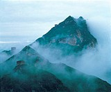 the scene of nature,mount and clouds sea,China