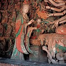 the Sculptures of Chinese Goddesses the Temple of Pinglin of Song Dynesty,Pingyao,Shanxi Province