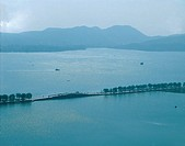 the scene of the West Lake,Hangzhou city,Zhejiang Province,the cut-off bridge,China