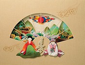 Paper illustration, New year greeting
