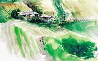 Water Color Painting,Landscape