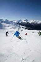 Skiing Whistler Mountains Backcountry, British Columbia, Canada.