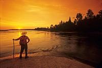 Sunrise along Nutimik Lake, Whiteshell Provincial Park, Manitoba, Canada.