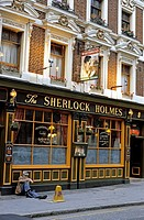 The Sherlock Holmes pub in London, England.