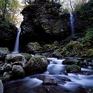 Narukami´s waterfall Waterfall Iwanai, Iwanai_gun Hokkaido Japan Waterfall River Tree Spray Stone Cliff