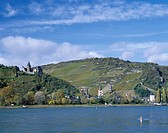 Autumn Rhine River The Sutter Lec castle Germany