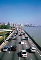 Gangbyeon Expressway,Hangang River,Seoul,Korea