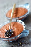 chocolate and Earl Grey tea mousse