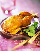 quail with spices and honey