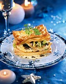 John Dory fish in flaky pastry with caviar and champenoise sauce
