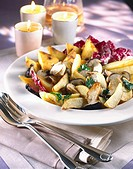 pan_fried potatoes and ceps