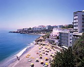 Seashore, Nerja, Costa del Sol, Spain, Sea bathing, hotel