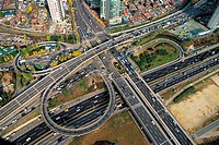 Traffic On Highway Interchange,Seoul,Korea