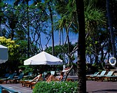Swimming pool of Bali Hyatt Sanur Bali Island Couple Indonesia Beach