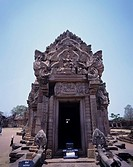 The ruins of Phanom Rung Nahrai God to dance Phi Mai southeast Thailand April