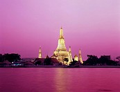temple Wat Arun temple of dawn Bangkok Thailand February