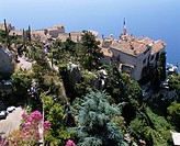 An Au Balcon du Midi, Eze Cote d´Azur France Sea Tree People City View Flower Plant