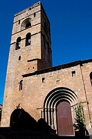 Medieval church (XI-XIIth c). Ainsa. Huesca province. Aragon. Spain