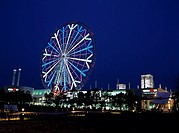Palette town Large Ferris wheel Night view Qinghai waterfront subcenter Tokyo Japan Ferris wheel Vehicle, Transportation Vehicle, Transportation Build...