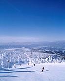 Silver Frost, Skier, Zao, Yamagata, Japan