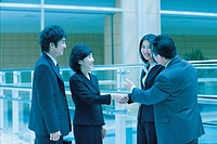 Business People Handshaking,Korean