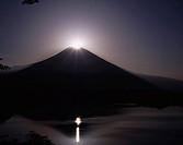 Diamond Fuji, Lake Tanuki, Fujinomiya, Shizuoka, Japan