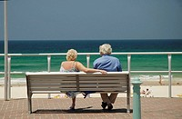 Elderly couple at Bondi Beach. Sydney. Australia. 2007