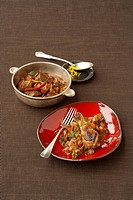 Chicken stew with chocolate & venison ragout with chillies