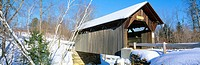 Covered Bridge, Stowe, Winter, Vermont