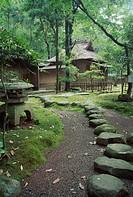 Tatsuta nature park tearoom, Hosokawa family, Kumamoto, Japan