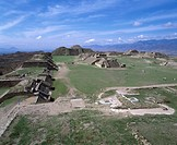 Monte Alban Oaxaca Mexico Sky Clouds People Mountain Stairs