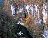 Geibikei, Red Leaves, Higashiyama, Iwate, Japan