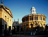 Sheldonian Theatre Oxford United Kingdom Blue sky Building