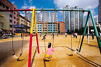 Swing In Playground,Korea
