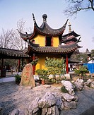 Hanshan Temple, Suzhou, Jiangsu, China, temple, architecture, tower, stone monument, stone, March
