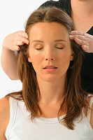 Young Woman having a Head Massage (thumbnail)
