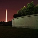 Washington Monument at night in Washington, D.C., USA