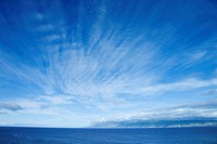 Pacific Ocean and blue sky off Honolulu, Hawaii (thumbnail)