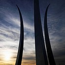 Three spires of Air Force Memorial in Arlington, Virginia, USA